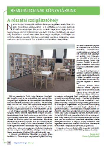 Könyvtári Hírzengő - A rózsafai szolgáltatóhely